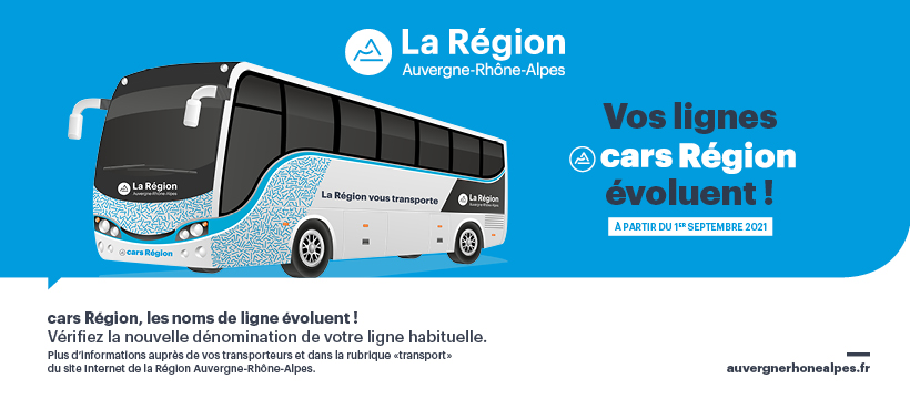 Vos lignes cars Région évoluent !